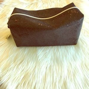 Handbags - Black Glitter Makeup bag Never Used